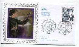 France-FDC-2011(env.)-Yt 4532-Marie Curie,année Internationale De La Chimie - 2010-....
