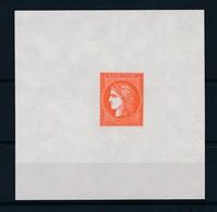 FRANCE - EPREUVE 1F VERMILLON NEUVE* AVEC CHARNIERE - 1849-1850 Ceres