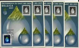 ÖSTERREICH - 5 X A5-Sonderkarte Mit Mi-Nr. 2344 + Schwarzdruck Österreich Zu Gast Bei Der BELGICA 2001 - 1945-.... 2nd Republic