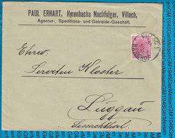 Austria Couvert Villach Bahnhof 1897 - Covers & Documents