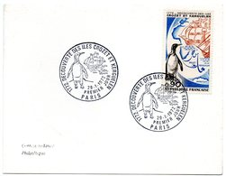 OISEAU / MANCHOT = 75 PARIS 1972 = CACHET PREMIER JOUR N° 1704 = Découverte Des Iles Crozet Et Kerguelen - FDC