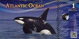 ATLANTIC OCEAN  1 Dollar 2016 KILLER WHALES Specimen  UNC - Specimen
