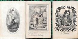 Zevenbergen. 3 Doodsprentjes Rond 1850. - Religion & Esotericism