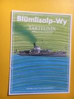 8649 - Blümlisalp-Wy Tartegnin Suisse Bateau à Vapeur Blümlisalp - Etiquettes