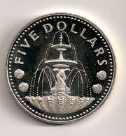 Barbades - 5 Dollars Argent Silver 1976 - Barbados