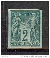 N° 74a SAGE 2c REIMPRESSION GRANET SIGNE JACQUART NEUF SANS GOMME - 1876-1898 Sage (Type II)
