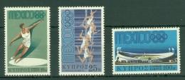 Cyprus: 1968   Olympic Games, Mexico   MNH - Chypre (République)