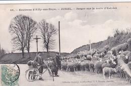 Cpa  JUMEL (80) - Bergers Sur La Route D'Estrées - France