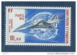 ST PIERRE PA 62 CONCORDE ** - Poste Aérienne
