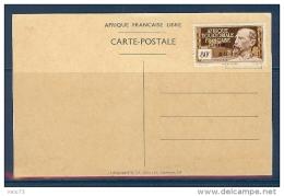 AEF N° 140Aa SANS LE CHIFFRE 2 A 24 SUR CARTE POSTALE RARE - Lettres & Documents