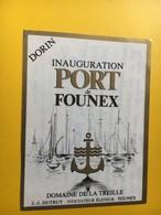 8651 - Dorin Inauguration Du Port De Founex Suisse Domaine De La Treille - Barche A Vela & Velieri