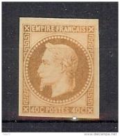N° 31c IMPRESSION FINE ROTHSCHILD NON DENTELE * - 1863-1870 Napoleone III Con Gli Allori