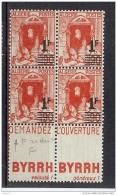 ALGERIE N° 158Ac X 4 AVEC DOUBLE PUB ET UN EXEMPLAIRE VARIETE F CASSE ** - Algérie (1924-1962)