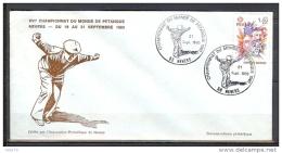 ENVELOPPE DU CHAMPIONNAT DU MONDE DE PETANQUE DE NEVERS DU 21/09/80 - Pétanque