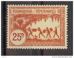 MADAGASCAR TIMBRE FISCAL 25c * - Autres