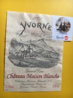 8653 - Yvorne 2002 Château Maison Blanche Vendu Pour Le Soutien Du Voyage De La Vaudoise à Brest 2004 - Bateaux à Voile & Voiliers