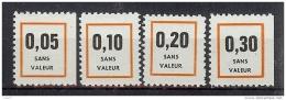 FICTIFS SERIE DE 4 VALEURS DIFFERENTES ** NON CATALOGUES YVERT - Fictifs