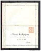 ENTIER  CARTE LETTRE 15c MOUCHON RETOUCHE REPIQUEE BONJEAN PARIS NEUVE  RARE - Letter Cards