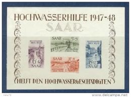 SARRE BF N° 1 INONDATION DE 1947 * - Blocs-feuillets