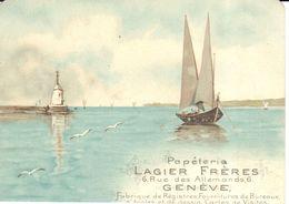 Thèmes - CPA - Publicité - Papeterie Lagier Frères - Suisse - Genève - Publicité