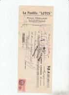 ROCHEFORT SUR MER - CHARENTE - LA PASTILLE LOTUS - 1928 -                        TDA103A - Bills Of Exchange