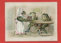 Strasbourg, Manufacture De Brosserie C. Fromm, Chromo L'apéritif Des Grenouilles, Anthropomorphisme, Frogs - Andere