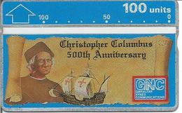 Télécarte De GIBRALTAR - CHRISTOPHE COLOMB - 500ème Anniversaire De La Découverte De L'Amérique ( Bateau ) - Bateaux