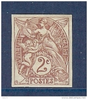 N° 108c BLANC 2c NON DENTELE * - 1900-29 Blanc