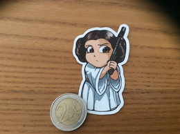 AUTOCOLLANT «Princesse Leia» (Star Wars) - Stickers