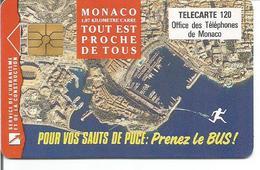 Télécarte De MONACO - PRENEZ LE BUS - 120 U GEM 01/93 - 100 000 Ex. - Monaco