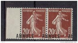 N° 139-CI2 EN PAIRE VARIETE SURCHARGE DEPLACEE * ET ** - Cours D'Instruction