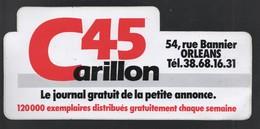 CARILLON 45 ORLEANS LE JOURNAL GRATUIT DE LA PETITE ANNONCE - AUTOCOLLANT REF: 089 - Stickers