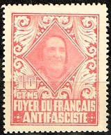 FOYER DU FRANCAIS ANTIFASCISTE, DOLORES IBARRURI, 10 CTS, ROJO - Emissioni Repubblicane