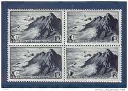 N° 764 POINTE DU RAZ VARIETE TRAIT BLEU DANS BLOC DE 4 ** - Variétés: 1945-49 Neufs