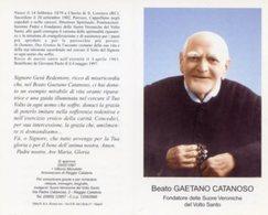 Santino Depliant BEATO GAETANO CATANOSO (Fondatore Delle Suore Veroniche Del Volto Santo) - PERFETTO P52 - Religion & Esotericism