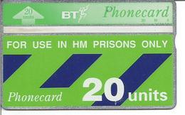 Télécarte Du ROYAUME UNI - 20 Unités - British Telecom - ( à Utiliser En Prison Seulement ) - Ver. Königreich