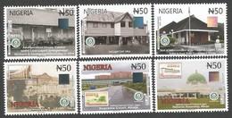 Nigeria 2016 Centenary State Buildings Court Architecture Hologram Set Mint - Nigeria (1961-...)