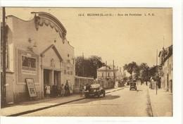 Carte Postale Ancienne Bezons - Rue De Pontoise - Cinéma - Bezons