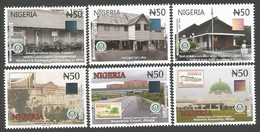 Nigeria 2016 Centenary State Buildings Court Architecture Hologram Set Mint - Holograms