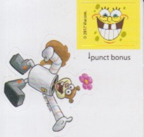 Sticker - Spongebob SquarePants - Sandy Cheeks - Stephen Hillenburg - BD Comics Cartoons - 42/42 Mm - Stickers