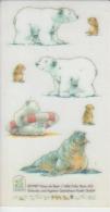 Netherlands, Holland - 1987 - Hans De Beer - Little Polar Bear - Stickers / Tattoo - 105/57 Mm - Stickers