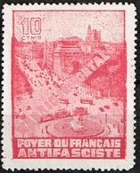 FOYER DU FRANCAIS ANTIFASCISTE, MADRID INMORTAL, 10 CTS, ROJO - Emissioni Repubblicane