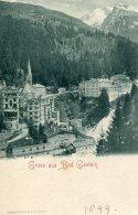 AUSTRIA - Gruss Aus Bad Gastein - 1899 - Unused Undvided Rear - Bad Gastein