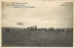 220718 -  64 PAU école  D'aviation Mm WRIGHT Et TISSANDIER Exécutant Un Vol De 28 Minutes - PHOT CALLIZO - Pau