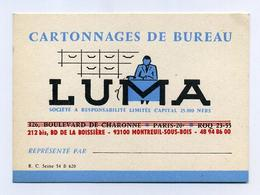 Cartonnages LUMA - Carte De Visite + Carte Postale Pour Correspondance Professionnelle (2 Images) - Cartes De Visite
