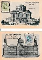 CHOCOLATERIE SAINTON - EXPO.Universelle1900 - Palais De La Grèce - Palais De La Roumanie Avec Timbres - Documents Historiques