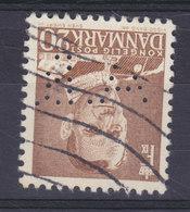 Denmark Perfin Perforé Lochung (A10) 'A.B.' Arnold Busck, København (Bookseller) Fr. IX. Stamp (2 Scans) - Abarten Und Kuriositäten