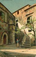 ITALY -  Sicily - Cortile Del Palazzo Fioresta Taormina - Artcard -  Good Postmarks 1906 - Altre Città