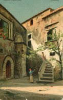 ITALY -  Sicily - Cortile Del Palazzo Fioresta Taormina - Artcard -  Good Postmarks 1906 - Autres Villes