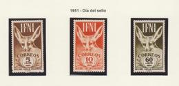 IFNI 1951 DÍA DEL SELLO EDIFIL. NR. 76/78**MNH - Ifni